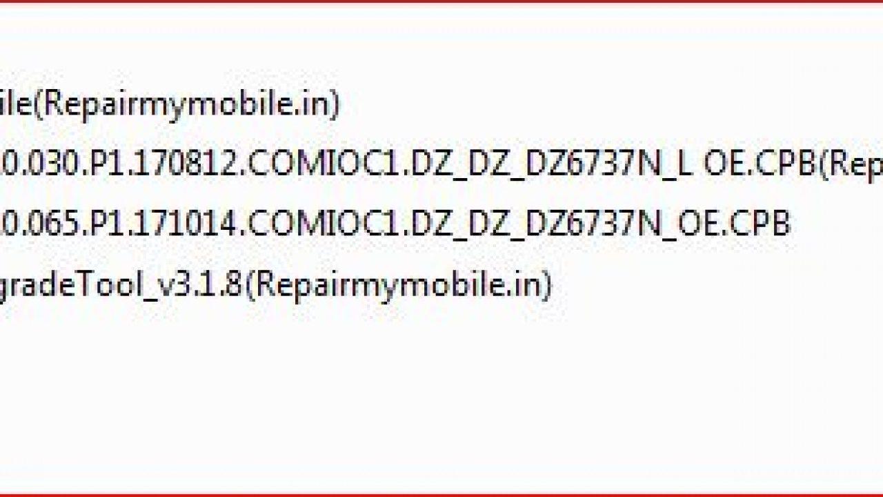 Comio C1 Flash File (Stock ROM) - RepairMyMobile in
