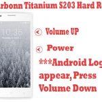 Karbonn Titanium S203 Pattern Unlock (Hard Reset)