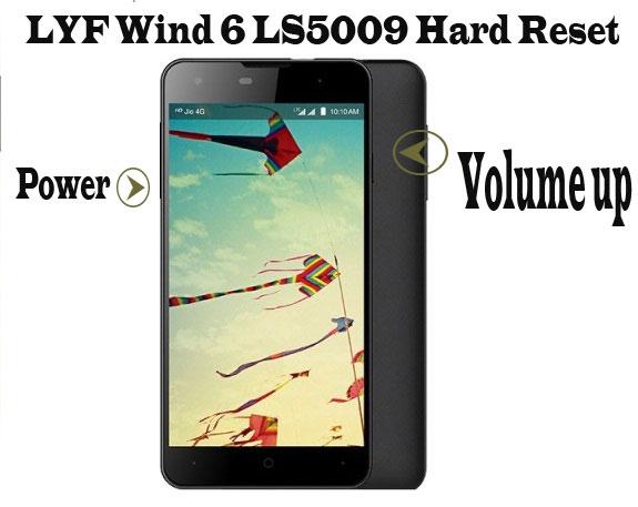 LYF-wind-6-ls5009-hard-reset