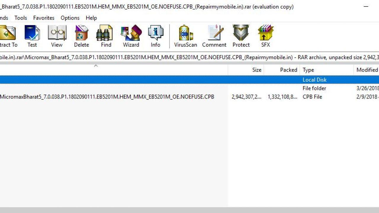 Micromax B5 (Bharat 5) Flash File (Stock ROM