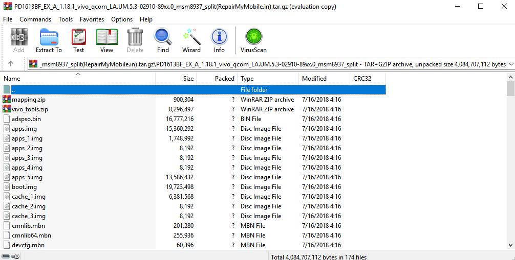 vivo v55s flash file
